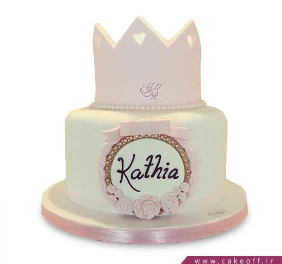 کیک تولد فانتزی دخترانه - کیک یاس تاج | کیک آف