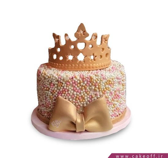 کیک تولد دخترانه - کیک تاج بانو | کیک آف