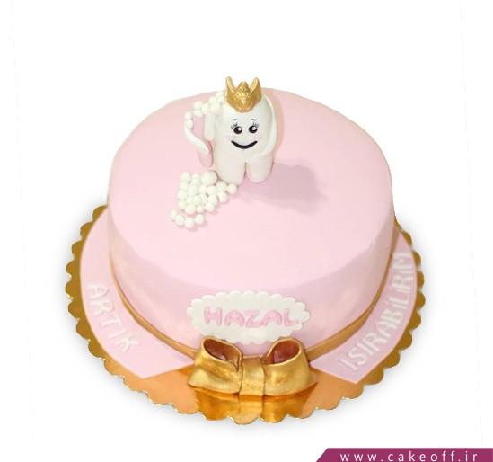 کیک دندان تاج طلا