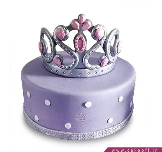 کیک تولد زیبا دخترانه - کیک یاسمن تاج | کیک آف