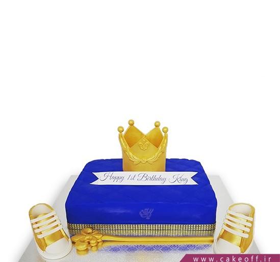 کیک تولد پسرانه - کیک آبی کینگ | کیک آف
