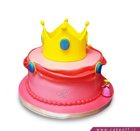 مدل کیک تولد دخترانه جدید - کیک تاج زرد | کیک آف