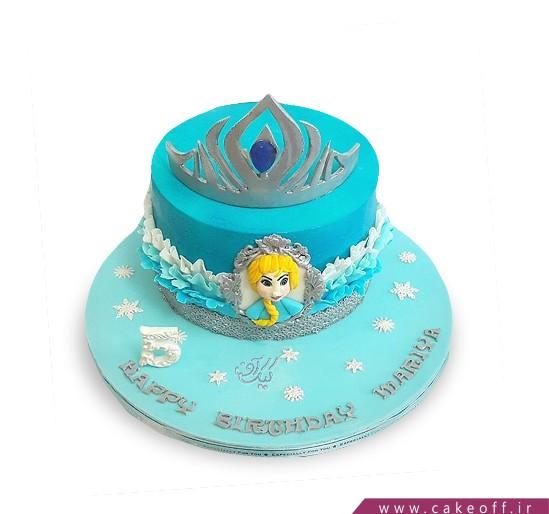 کیک دخترانه السا تاج دار