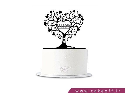 کیک عاشقانه - کیک عشق ریشه دار | کیک آف