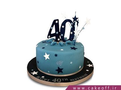 کیک تولد درخشش ستاره | کیک آف
