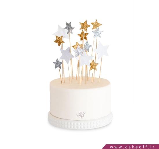 کیک تاپر دار - کیک ستاره درخشان | کیک آف