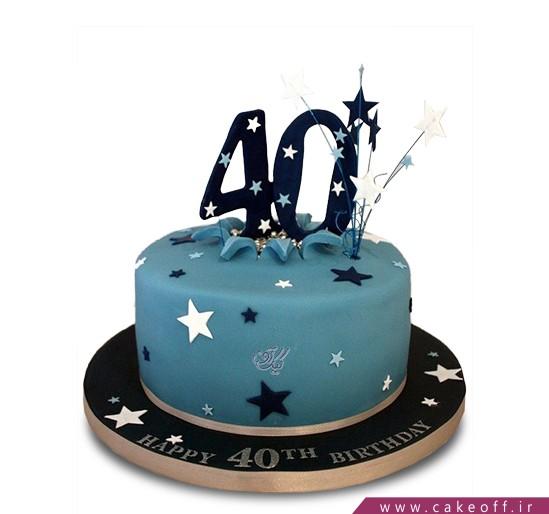 کیک تولد درخشش ستاره   کیک آف