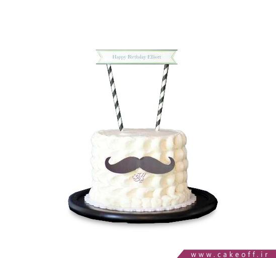 کیک مردانه - کیک آقای سیبیل | کیک آف