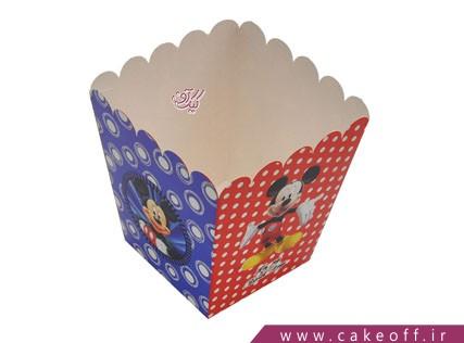 ظروف تولد - ظرف پاپ کورن میکی موس | کیک آف