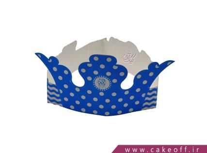 تاج تولد - تم پسرانه آبی خالدار | 4 عدد