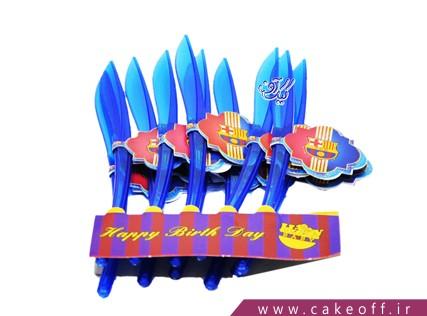 وسایل پذیرایی تولد - کارد تم بارسلونا | کیک آف