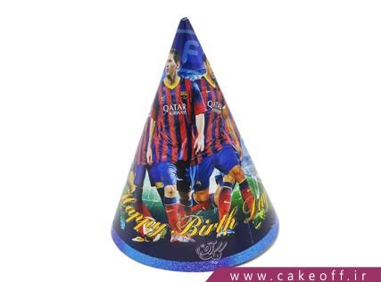 کلاه تولد پسرانه - کلاه تولد بارسلونا | کیک آف