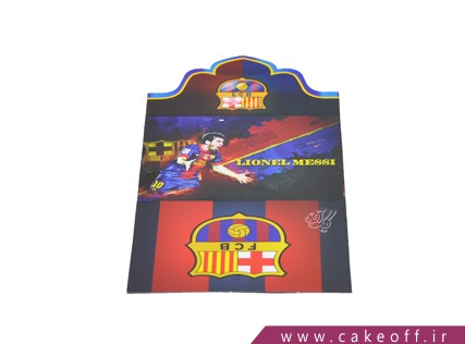 کارت دعوت تولد - تم بارسلونا | کیک آف