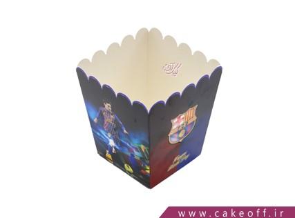 وسایل پذیرایی تولد - ظرف پاپ کورن بارسلونا | کیک آف