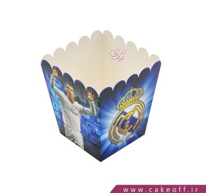 ظرف پاپ کورن - رئال مادرید | 10 عدد