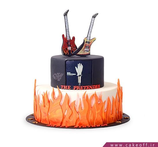 کیک تولد موسیقی - کیک راک استارز | کیک آف