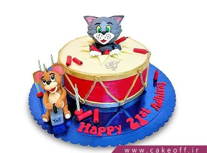 کیک تولد کودک - کیک تام و جری 5 | کیک آف