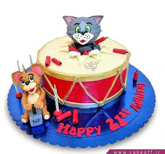 کیک تولد کودک - کیک تام و جری ۵   کیک آف
