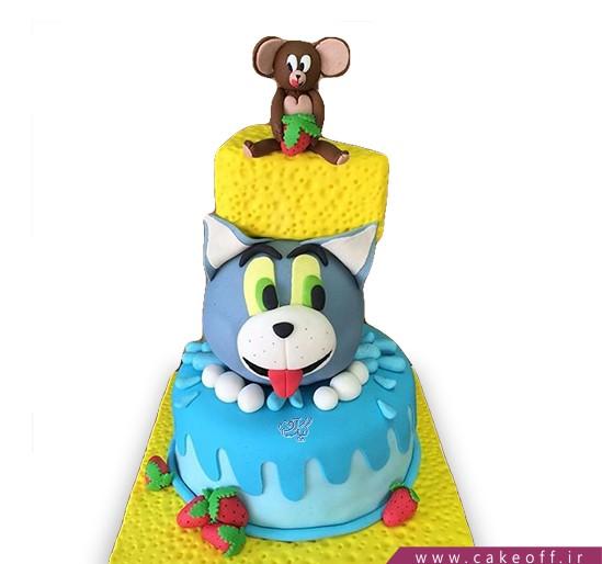 کیک تولد کودک - کیک تام و جری ۹   کیک آف