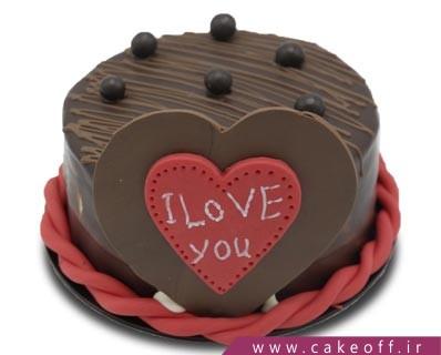 کیک ولنتاین - کیک عاشقانه - کیک من عشق هستم | کیک آف