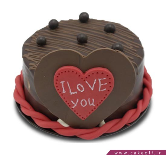 کیک ولنتاین - کیک عاشقانه - کیک من عشق هستم   کیک آف