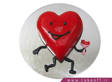 کیک ولنتاین لاوینگ | کیک آف