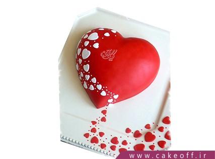 کیک ولنتاین - کیک عاشقانه وفادارانه | کیک آف