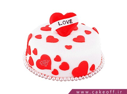 کیک عاشقانه قلبم می تپد | کیک آف