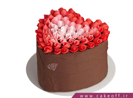 کیک تولد عاشقانه - کیک ولنتاین بهشت من | کیک آف