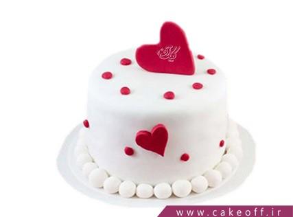 کیک عاشقانه - کیک ولنتاین الهه عشق | کیک آف