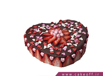 کیک قلب توت فرنگی های عاشق | کیک آف