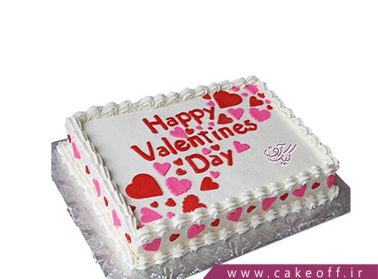کیک عاشقانه - کیک ولنتاین - کیک هپی ولنتاین | کیک آف