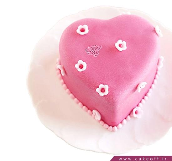 کیک عاشقانه - کیک ولنتاین او | کیک آف