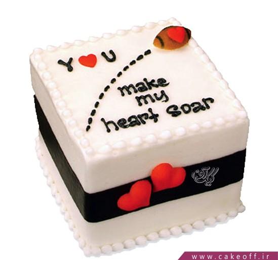 کیک عاشقانه - کیک ولنتاین - کیک در هوای عشق | کیک آف