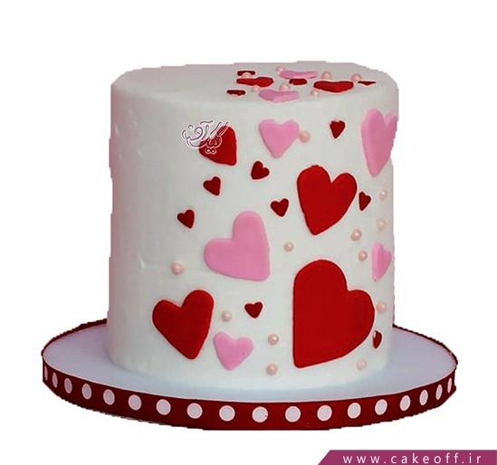 کیک ولنتاین دو عاشق | کیک آف