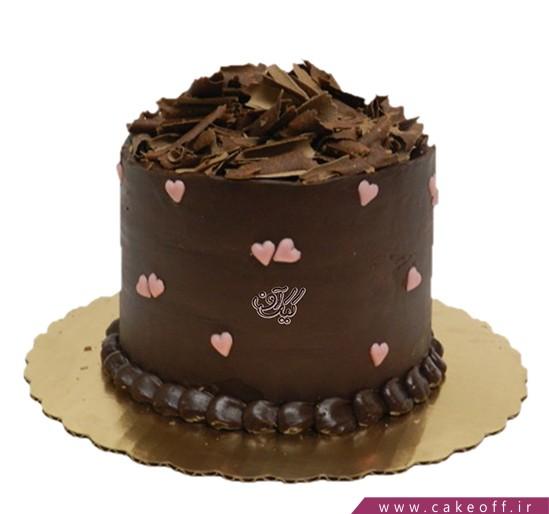 کیک عاشقانه - کیک ولنتاین دل به دل | کیک آف
