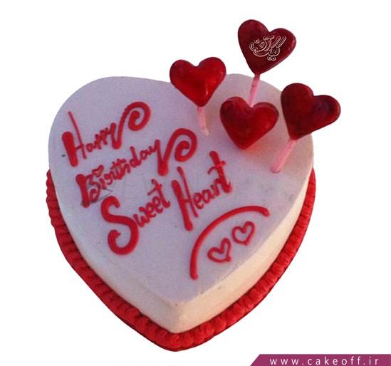 کیک عاشقانه - کیک ولنتاین گلوریا | کیک آف