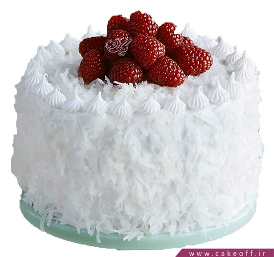 کیک تولد زیبا - کیک خامه ای برفینه | کیک آف