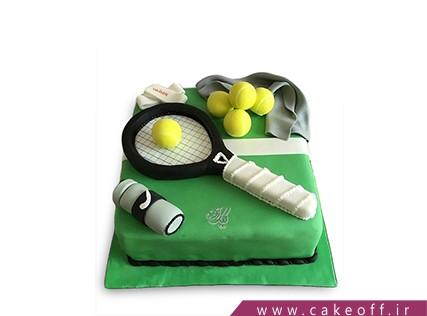 کیک تولد ورزشی - کیک راکت تنیس 2 | کیک آف