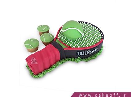 کیک تولد ورزشی - کیک راکت تنیس 3 | کیک آف