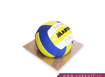 کیک توپ والیبال - کیک والیبالیست | کیک آف