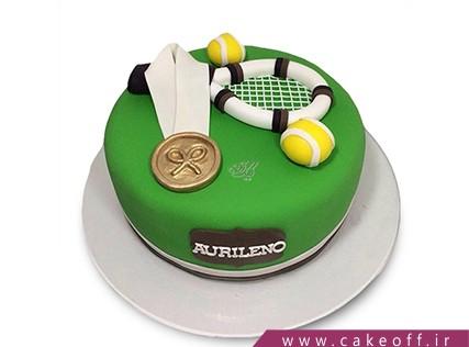 کیک تولد ورزشی - کیک راکت تنیس 4 | کیک آف