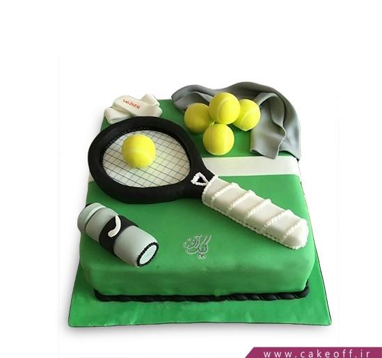 کیک تولد ورزشی - کیک راکت تنیس ۲ | کیک آف