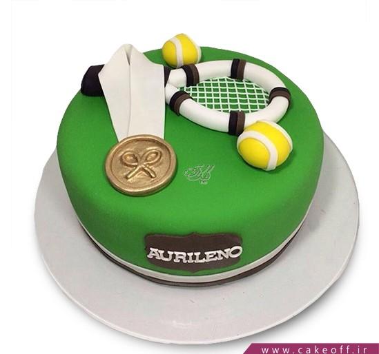 کیک تولد ورزشی - کیک راکت تنیس ۴ | کیک آف