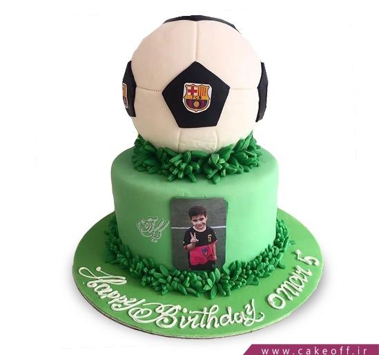 کیک تولد فوتبالی بارسلونا 7