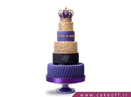 کیک عقد و عروسی یاس طلا | کیک آف
