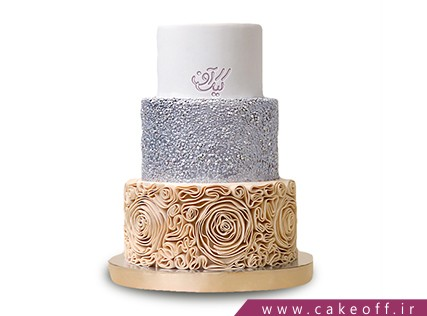 کیک های عروسی - کیک عروسی طلا نقره | کیک آف