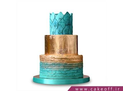 سفارش کیک خاص - کیک فیروز طلا | کیک آف