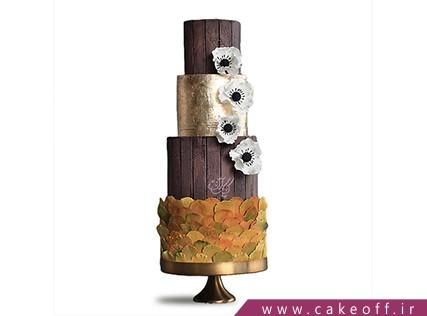 کیک عقد و عروسی - کیک طبقاتی - گل ریز | کیک آف