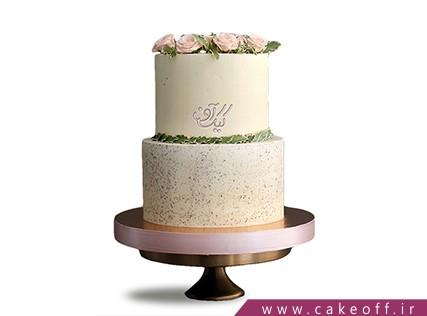 سفارش کیک عقد و عروسی - کیک عقد و عروسی گل بهار | کیک آف